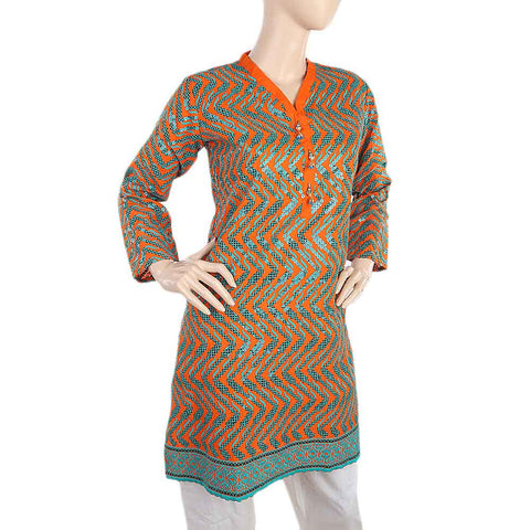 Women's Fancy Chicken Kurti - Orange