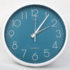 Round Shape Analog Wall Clock 10414 - Blue