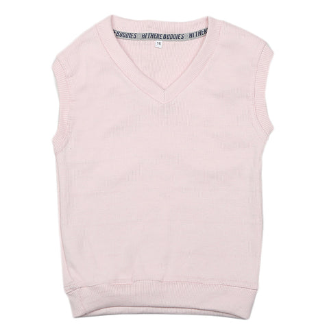 Boys Sleeveless Sweater - Pink