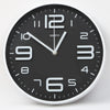 Round Shape Analog Wall Clock 10401 - Black