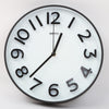 Round Shape Analog Wall Clock 10403 - White