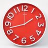 Round Shape Analog Wall Clock 10403 - Red