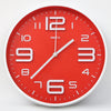 Round Shape Analog Wall Clock 10401 - Red