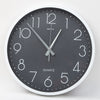 Round Shape Analog Wall Clock 10414 - Grey