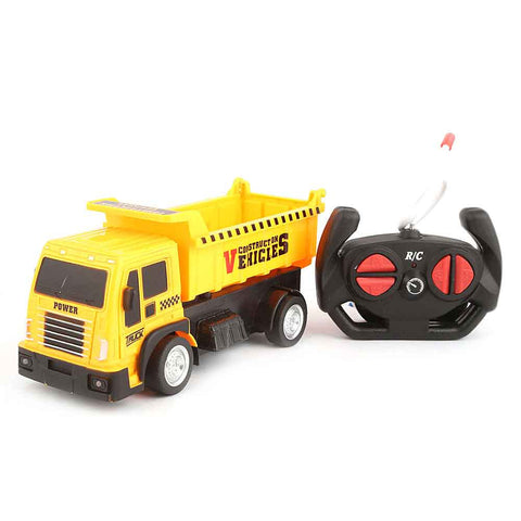 Remote Control Construction Truck Toy - Yellow - test-store-for-chase-value
