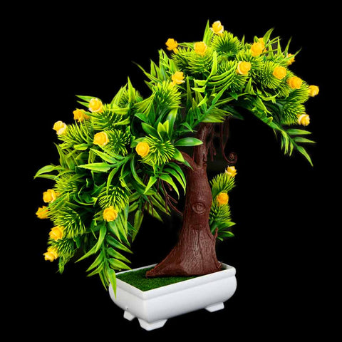 Artificial Plant With Pot - Yellow-Green