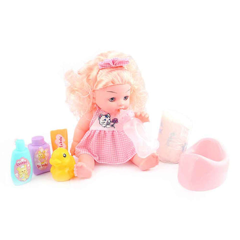 Baby Doll 6 Pcs - Pink - test-store-for-chase-value