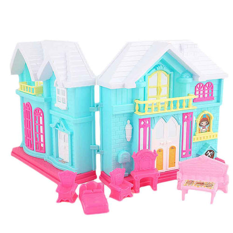 Frozen Doll Villa Set 6 Pcs - Cyan - test-store-for-chase-value