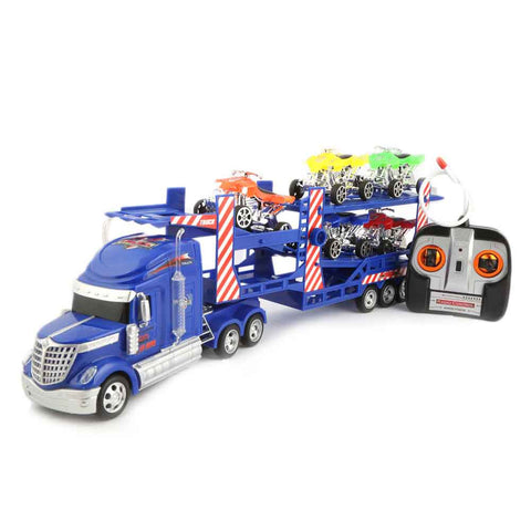 Remote Control Continental Truck Carrier - Blue - test-store-for-chase-value