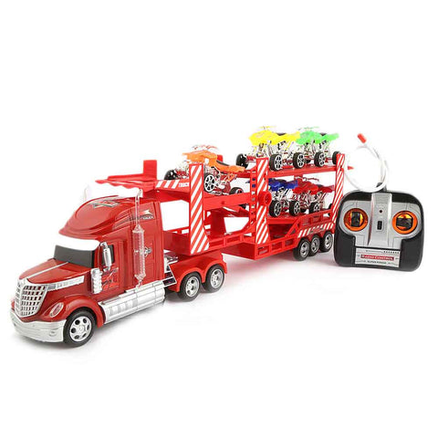 Remote Control Continental Truck Carrier - Red - test-store-for-chase-value