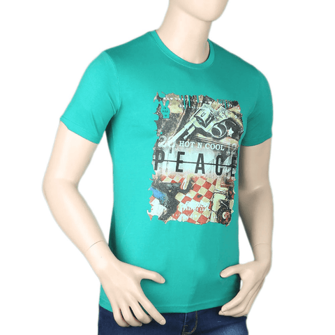Men's Printed T-Shirt - Light Green - test-store-for-chase-value
