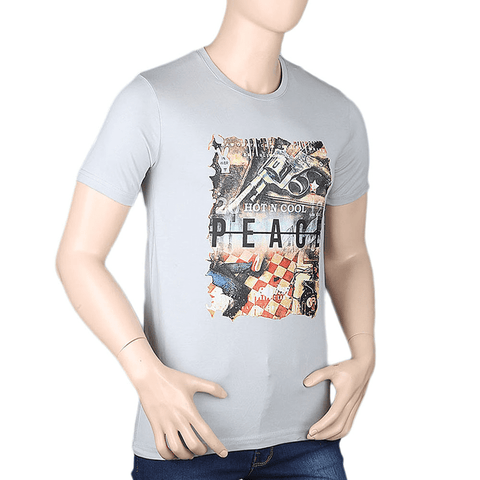 Men's Printed T-Shirt - Grey - test-store-for-chase-value
