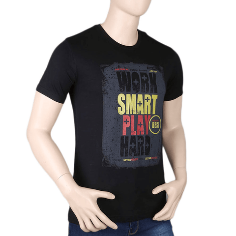 Men's Printed T-Shirt - Black - test-store-for-chase-value