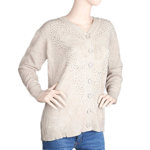 Eminent Full Sleeves Sweater For Women - Fawn