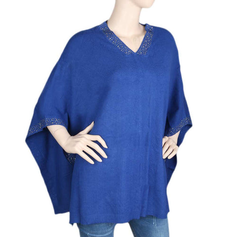 Eminent Poncho For Women - Royal Blue