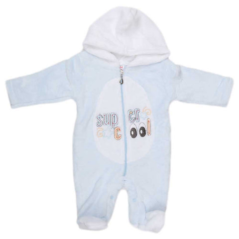 Newborn Romper - Light Blue