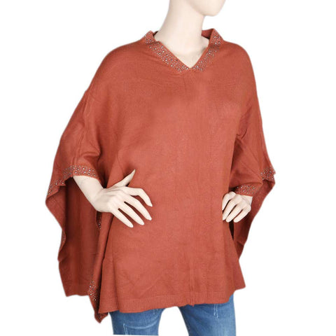 Eminent Poncho For Women - Rust