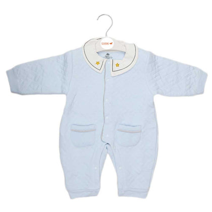 Newborn Girls Romper - Light Blue