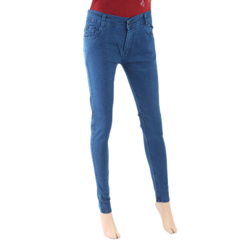 Women's Denim Pant - Mid Blue