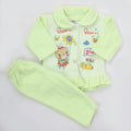 Newborn Girl Full Sleeves Polar Suit 5365 - Green