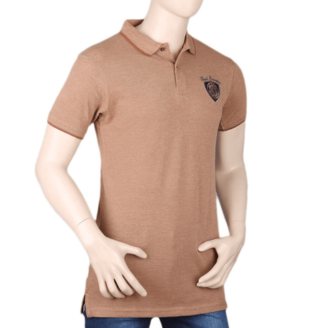 Men's Half Sleeves T-Shirt - Brown