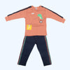 Boys Full Sleeves 2 Piece Suit - Peach
