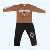 Boys Full Sleeves 2 Piece Suit - Brown