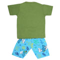 Boys Half Sleeves 2 Piece Suit - Green