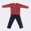 Boys Full Sleeves 2 Piece Suit - Maroon