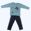 Boys Full Sleeves 2 Piece Suit - Steel Blue