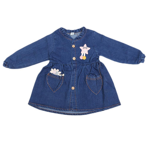 Girls Denim Top - Blue