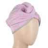 Women's Bath Towel Cap 23x9cm - Light Purple