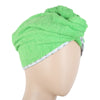 Women's Bath Towel Cap 23x9cm - Green
