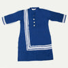 Girls Lace Khaddar Kurti - Navy Blue