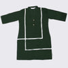 Girls Lace Khaddar Kurti - Dark Green