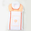 Newborn Zipper Sleeping Bag With Pillow - Orange