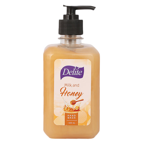 Delite Hand Wash Milk and Honey - 400 ML