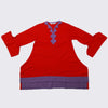 Girls Plain Kurti - Red