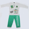 Boys Full Sleeves 2 Piece Suit - Green
