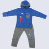 Boys Full Sleeves 2 Piece Suit - Royal Blue
