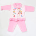 Newborn Girl Full Sleeves Polar Suit 5363 - Pink