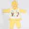 Newborn Girl Full Sleeves Polar Suit 6540 - Yellow