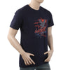 Men's Round Neck Half Sleeves T-Shirt - Navy Blue