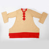 Girls Full Sleeves Plain Kurti 3307-A - Beige