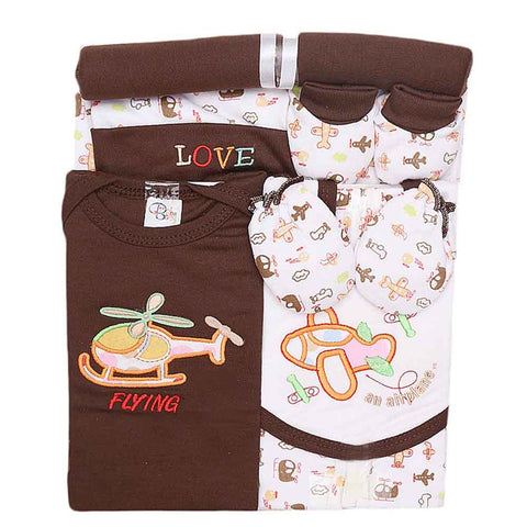 Newborn Baby Gift Suits (8 Pcs) - Brown