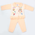 Newborn Girl Full Sleeves Polar Suit 5363 - Peach