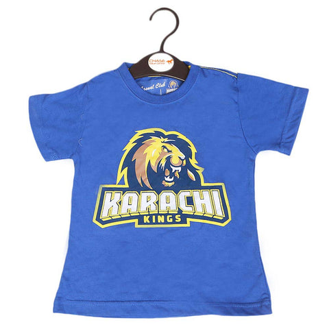 Karachi Kings T-Shirt For Girls - Blue