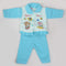 Newborn Girl Full Sleeves Polar Suit 5365 - Blue