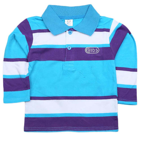 Boys Full Sleeves T-Shirt  - Blue