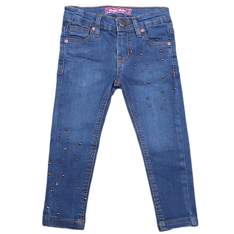 Girls Denim Pant - Blue